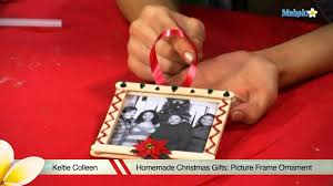 homemade christmas gifts picture frame ornament youtube