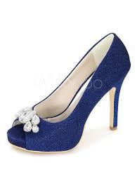 wedding shoes kg blue wedding shoes platform peep high heels glitter rhinestones