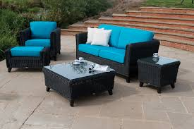 Blue Outdoor Cushions Exterior Design Comfortable Overstock Patio Furniture For Elegant