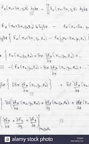 Paper With Writing Study Notes Written On Lined Paper With Scientific Formulae For