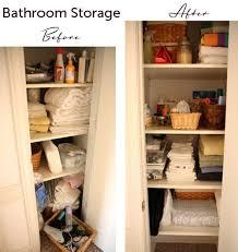 Bathroom Closet Storage Ideas Stunning Bathroom Closet Shelving With Best 10 Bathroom Closet