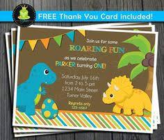 printable modern dinosaur birthday invitation free thank you