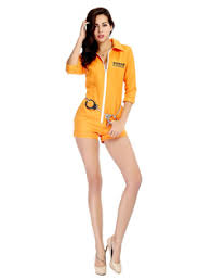 Orange Prison Jumpsuit Halloween Costume Prison Costumes Milanoo