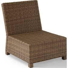 Crosley Furniture Outdoor Crosley Ko70017wb Nv Bradenton Collection Outdoor Wicker Sectional