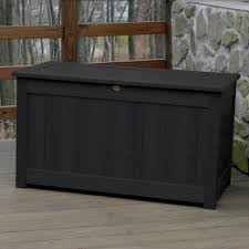 Patio Cushion Storage Bin by Furniture Outside Storage Boxes Wooden Rustic Style Outdoor