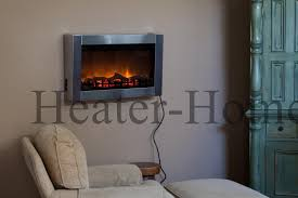 Fireplace Electric Heater Fire Sense 60758 1350 Watt Wall Mounted Electric Fireplace