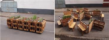 Urban Benches Brothers In Benches Urban Furniture With Recycled Pallets Street