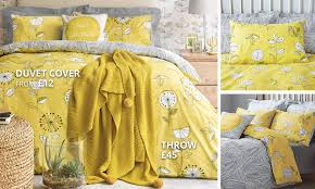 Sunflower Yellow Curtains by Elements Sunflower Yellow Bedding Collection Dunelm