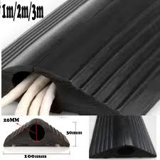 Vulcascot Cable Protectors by Cable Tex Rubber Cable Floor Cover Protector Trunking Black 67x12