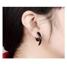 black earings 316l stainless steel triangle eye ring blown biker
