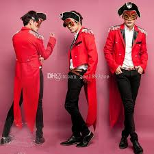Tuxedo Halloween Costumes Red Halloween Party Magician Tuxedo Circus Costumes
