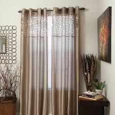 amazon com lavish home karla laser cut grommet single curtain