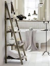 bathroom shabby chic ideas bathroom ladder shelves 50 amazing shabby chic bathroom ideas