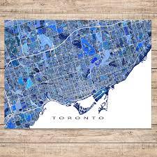 Map Toronto Canada by Toronto Map Print Ontario Canada U2013 Maps As Art