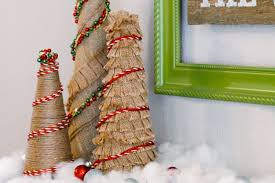 burlap christmas tree how to make burlap christmas trees