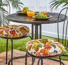 Outdoor Bistro Chair Pads Tropical Palm Tree Patio Chair Cushions Set Of 2 Outdoor Porch