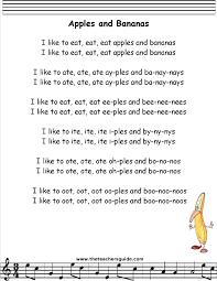 apples and bananas lyrics printout songs pinterest bananas