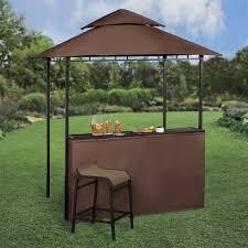 backyard gazebo bar new large steel frame grill gazebo outdoor bar