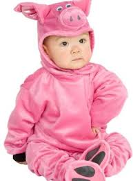 deluxe plush piglet costume baby 12 18 royal bacon society