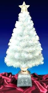 4 foot white christmas tree with colored lights white christmas tree with colored lights best fiber optic