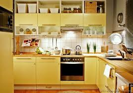 Yellow Kitchen Cabinet Yellow Kitchen Ideas With Kitchen Cabinet And Tile Backsplash