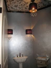 dining room with metallic interior paint color and wall mirror