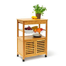 island trolley kitchen relaxdays kitchen island trolley with drawer bamboo wheeled