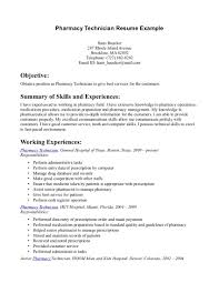 Good Resume Experience Examples by Pharmacy Technician Resume Sample Berathen Com