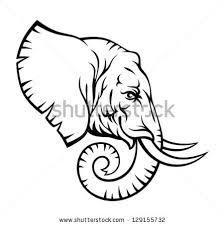 free african elephant head vector