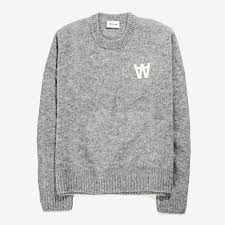 wood wood anneli sweater grey 11731001 4 rezet store
