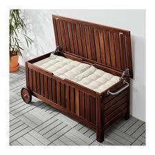 panchina in legno da esterno 繖pplar纐 panca con contenitore da giardino ikea