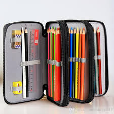 pencil bag 120 slot pu folding zipper pencil pouch container holder bag roll
