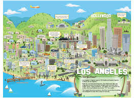 map of downtown los angeles printable los angeles travel map for reunion 2017