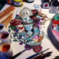 the 25 best wonderland tattoo ideas on pinterest alice in