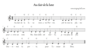 free nursery rhymes u003e au clair de la lune free mp3 audio download