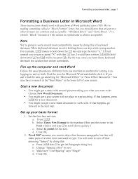 letter business letter template word