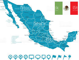 Chihuahua Mexico Map by Map Of Mexico And Navigation Icons Stock Vector Art 590600640 Istock