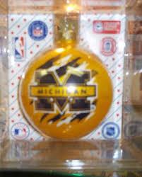 sports collectors series michigan unique glass ornament