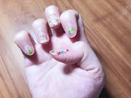 diy pressed flower nail art ミカエラ