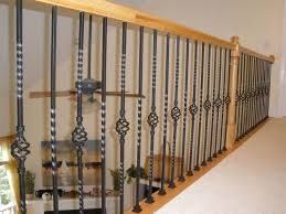 Wrought Iron Railings Interior Stairs Decor Winsome Contemporary Stair Railing With Brilliant Plan For