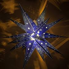 battery powered hanging l amazon com fold flat moravian star led star hanging light