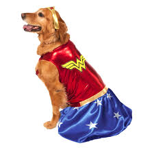 wonder woman dog halloween costume with same day shipping baxterboo