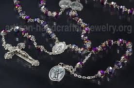 unique rosaries rosary necklace and rosary bracelet set
