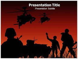 abstract of army soldiers powerpoint templates background of