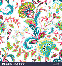 floral decor seamless pattern with fantasy flowers natural wallpaper floral