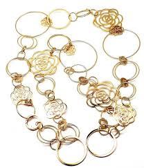 long link necklace images Chanel long link camelia flower gold sautoir necklace at 1stdibs jpg