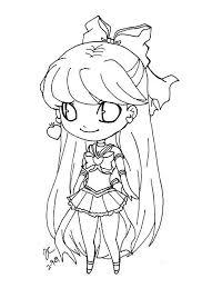 chibi sailor venus2 nekoxsquishykirai sailor moon lineart