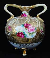 Nippon Vase Price Guide 211 Best Nippon Vases So Beautiful Images On Pinterest Porcelain