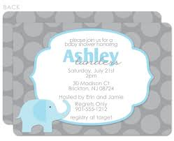 elephant baby shower invitations boy iidaemilia com