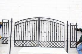 Gate For Backyard Fence Wrought Iron Cavalier Double Entry Gate For Yard Fence